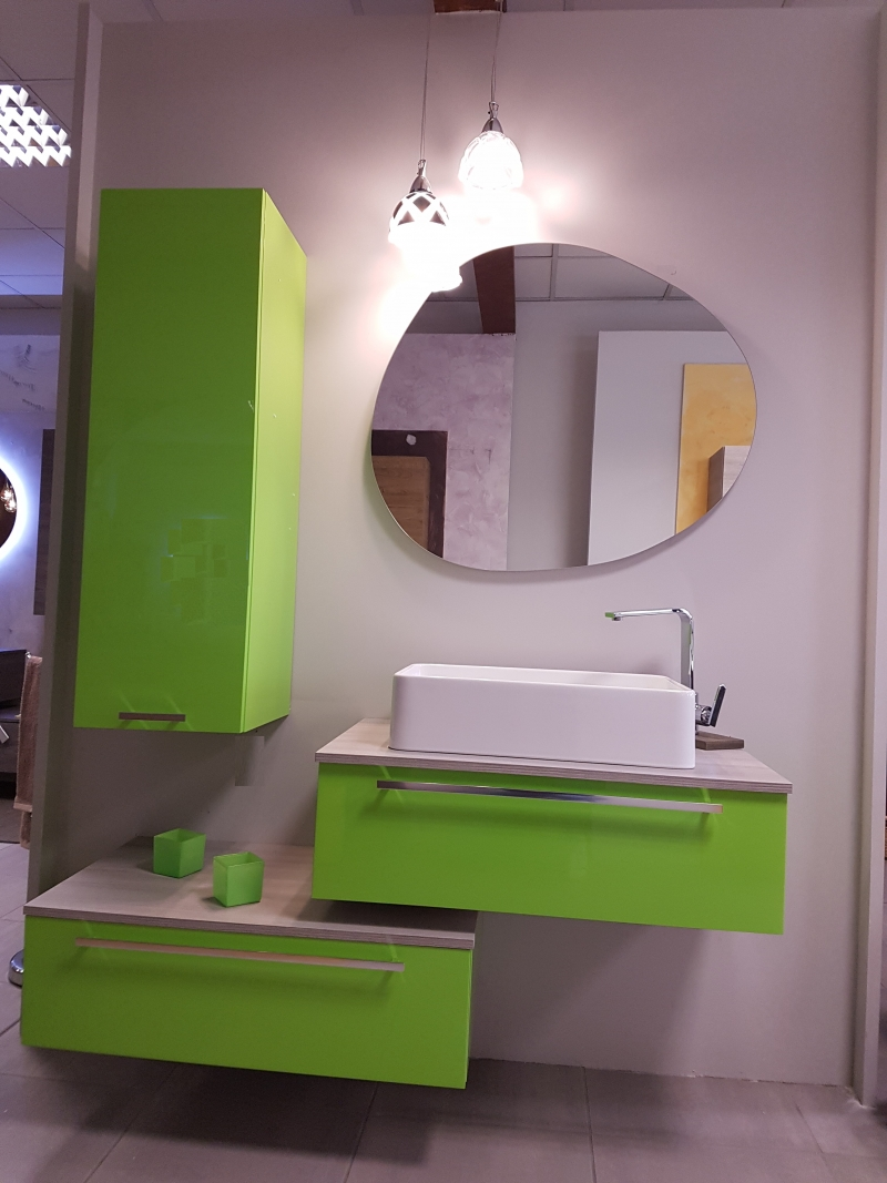 Offerta composizione bagno verde twiggy outlet del bagno - Outlet del bagno rubiera ...